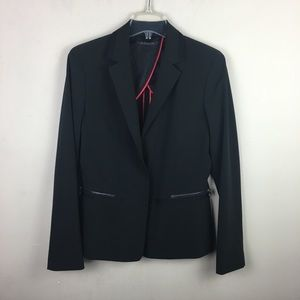 Elie Tahari black blazer jacket with zipper pocket